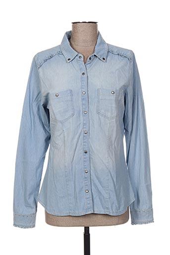 et compagnie chemises femme de couleur bleu