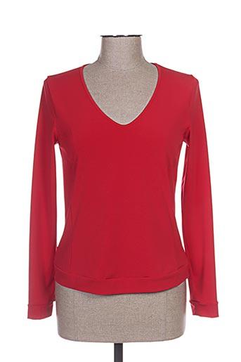 garella t-shirts femme de couleur rouge