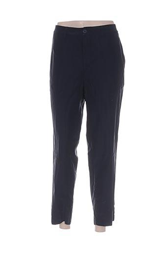 european culture pantalons femme de couleur bleu