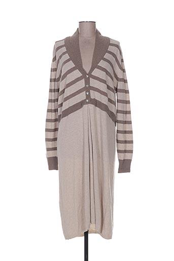 Robe pull marron CASHMERE pour femme