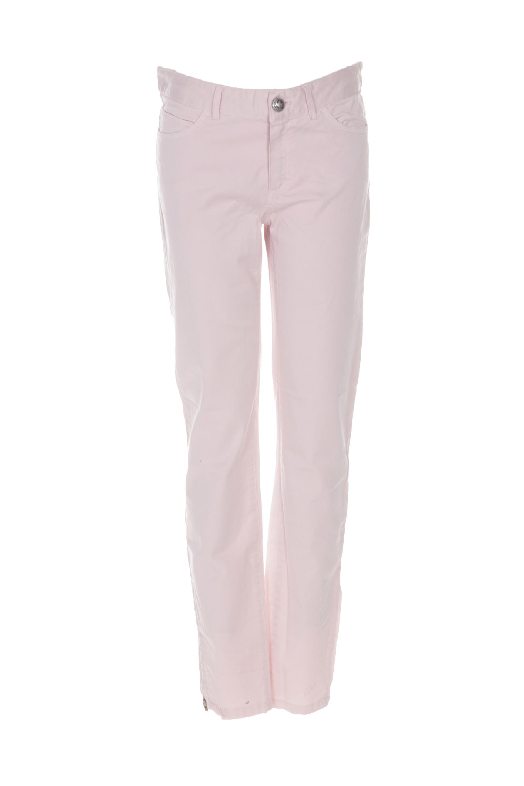 0039 Italy Pantalons Decontractes Femme De Couleur Rose 5pzam
