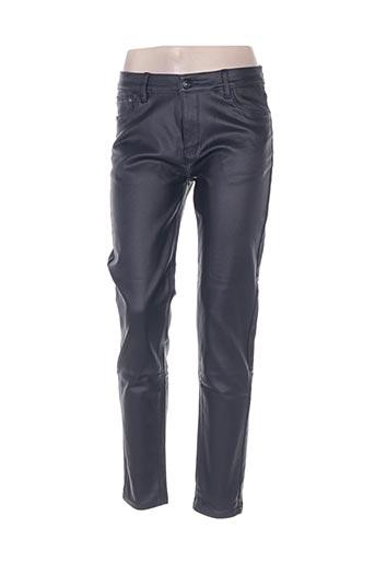 sarah john pantalons femme de couleur bleu