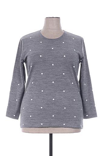 plurielles t-shirts femme de couleur gris