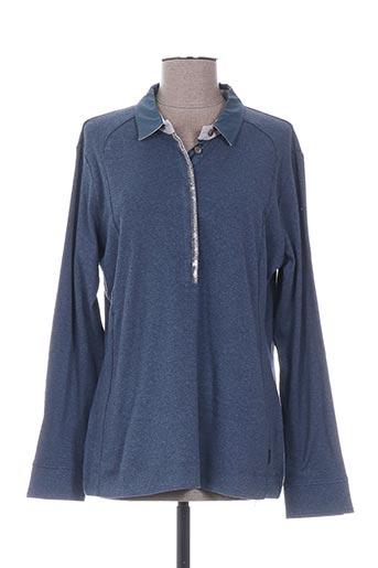 T-shirt manches longues bleu DISMERO pour femme