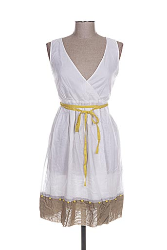gazel robes femme de couleur blanc