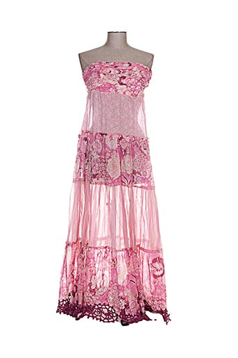 Robe longue rose EMAMO pour femme