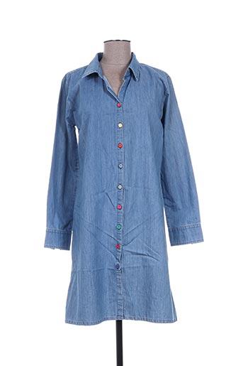 mia zia robes femme de couleur bleu