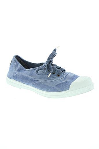 natural world chaussures femme de couleur bleu