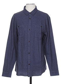 Chemise manches longues bleu QUIKSILVER pour homme