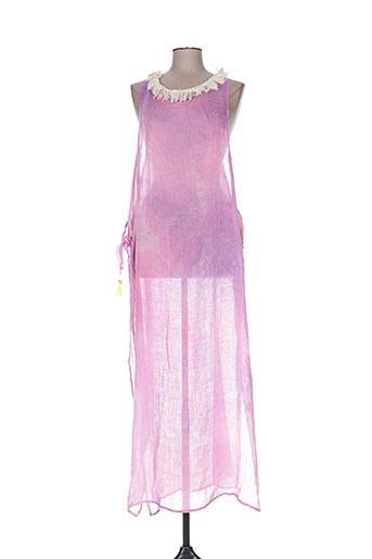 Robe longue rose IL MONDO E MIO pour femme