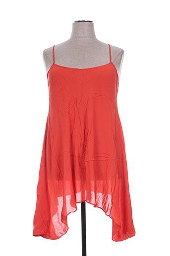 la stampa tuniques femme de couleur orange