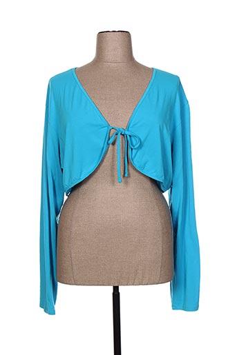 mankoë vestes femme de couleur bleu
