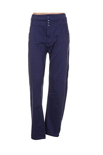 nana belle pantalons femme de couleur bleu