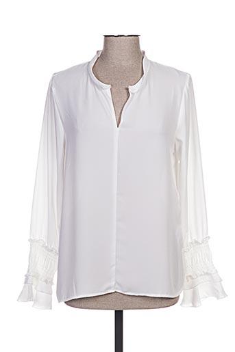 esqualo chemises femme de couleur blanc