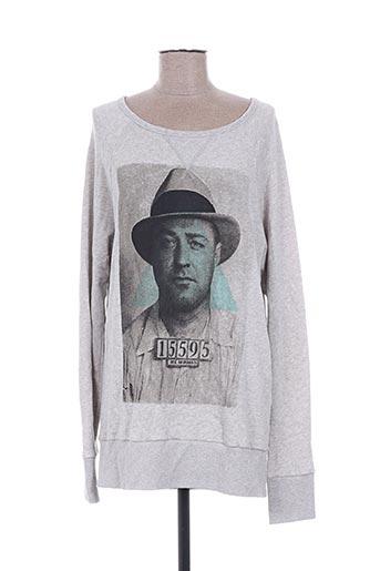 Sweat-shirt gris BOOM BAP pour femme
