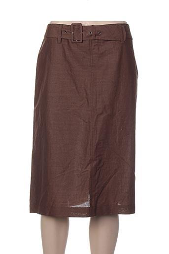 claudia gil jupes femme de couleur marron