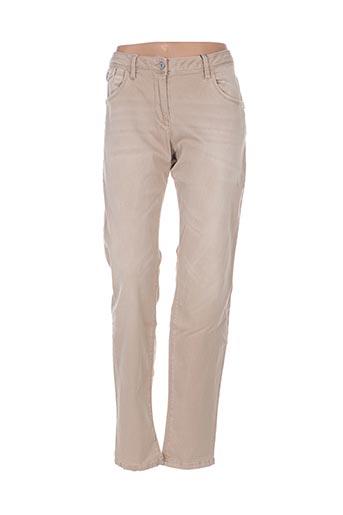 Jeans coupe slim beige SANDWICH pour femme