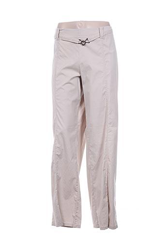 rosa rosam pantalons femme de couleur blanc