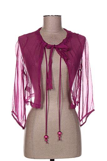 evalinka vestes femme de couleur violet