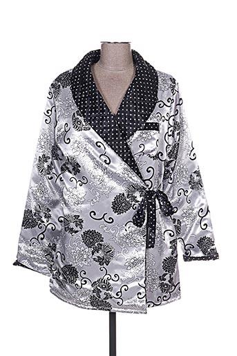 Robe de chambre gris FLEUR DE REVE pour femme