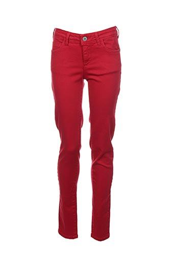 Pantalon 7/8 rouge KOCCA pour femme