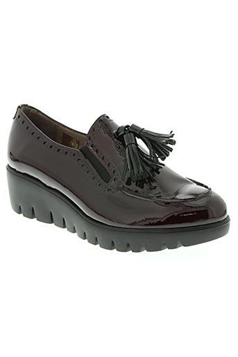 wonders chaussures femme de couleur rouge