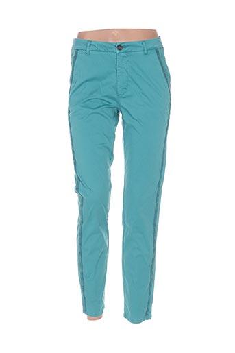 kaporal pantalons femme de couleur vert