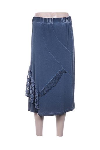 griffonnage jupes femme de couleur bleu