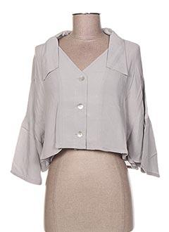 Veste casual gris GARUDA GARUZO pour femme