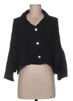 Veste casual noir GARUDA GARUZO pour femme