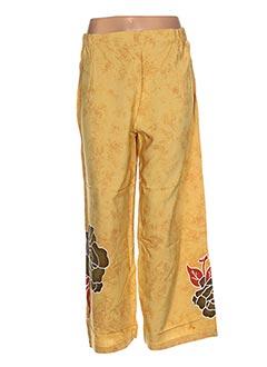 Pantalon casual jaune GARUDA GARUZO pour femme