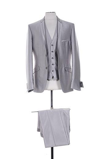 franck elisee costumes homme de couleur gris