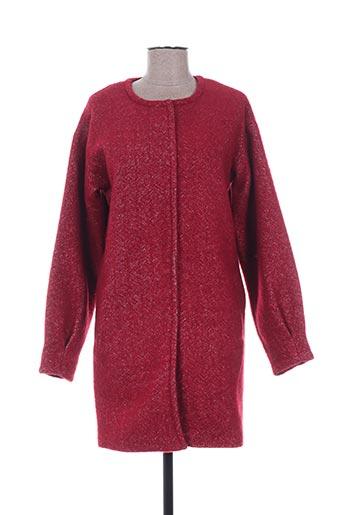 Manteau long rouge ICHI pour femme