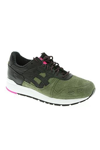 asics chaussures garçon de couleur vert