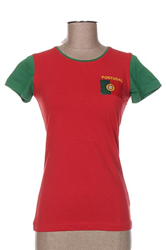 T-shirt manches courtes rouge HOLIPROM pour femme