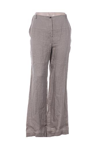 irene van ryb pantalons femme de couleur beige