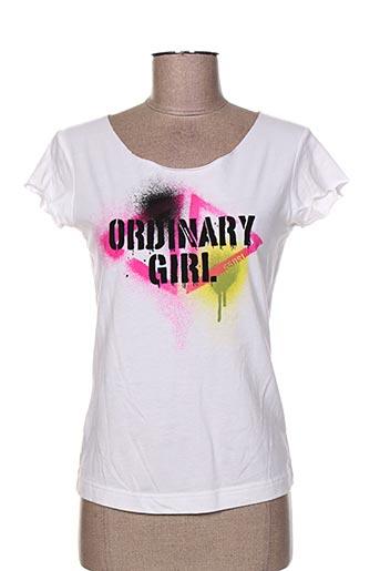 55 dsl t-shirts femme de couleur blanc
