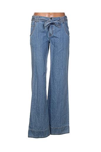claudia gil pantalons femme de couleur bleu