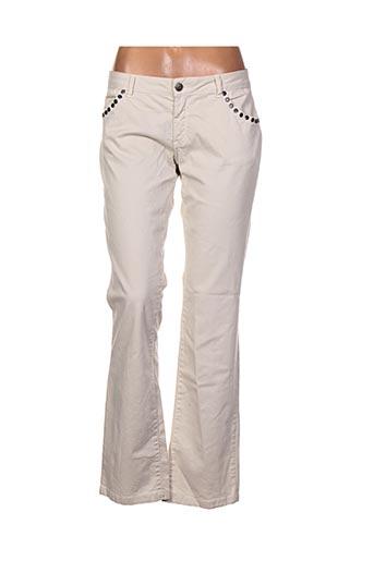 Pantalon casual beige SUD EXPRESS pour femme