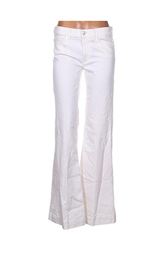 Pantalon casual blanc FOR ALL MANKIND pour femme