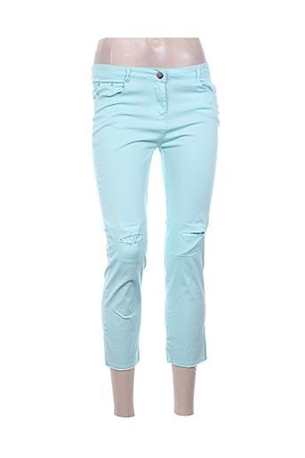 luizacco pantacourts femme de couleur bleu