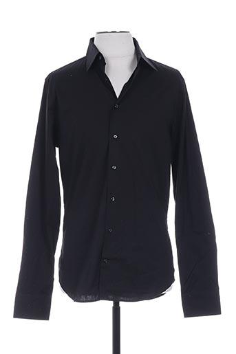 Chemise manches longues noir GIANNI FERRUCCI pour homme