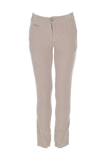 eliane et lena pantalons garçon de couleur beige