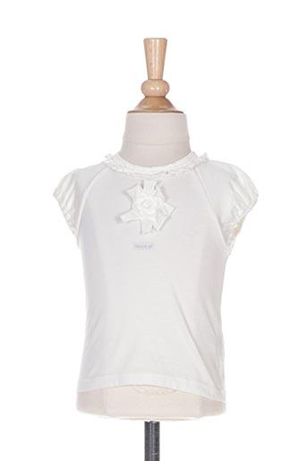 T-shirt manches courtes blanc ELIANE ET LENA pour fille