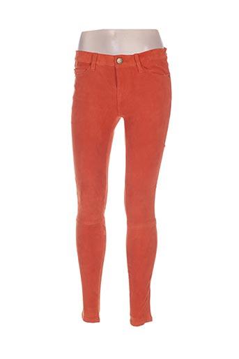 Pantalon casual orange CURRENTE/ELLIOTT pour femme