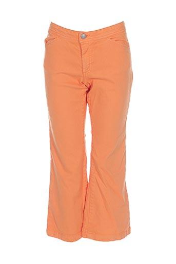 Pantalon casual orange TEDDY SMITH pour femme