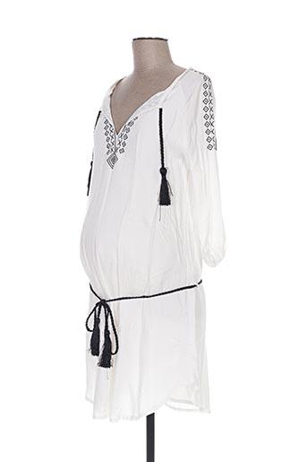 Tunique manches longues blanc COLLINE pour femme