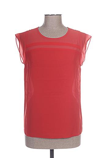 so essential chemises femme de couleur rouge