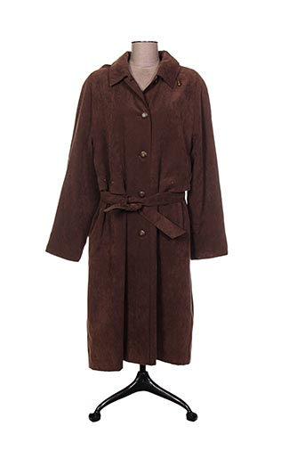 Manteau long marron ARIELLE pour femme