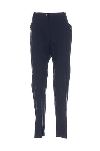 telmail pantalons femme de couleur bleu